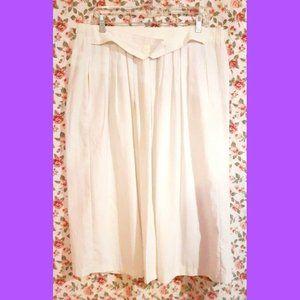 Vintage 1980 Pleated White Skirt Pus Size